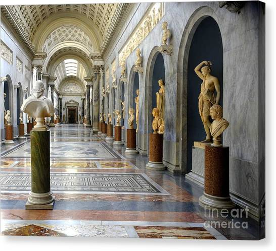 The Metropolitan Museum Of Art Canvas Print - Vatican Museums Interiors by Stefano Senise