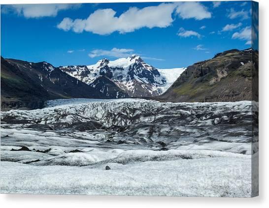 Vatnajokull Glacier Canvas Print - Vatnajokull Glacier by Stuart Gordon