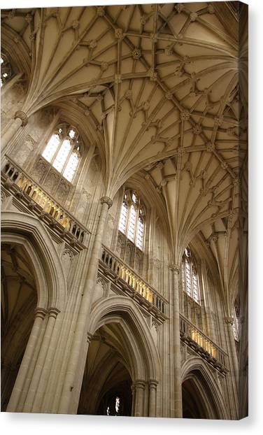 Vaulted Ceiling Canvas Print by Michael Hudson
