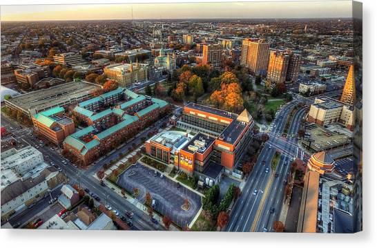 Virginia Commonwealth University Vcu Canvas Print - Vcu Fall 2015 by Tredegar DroneWorks