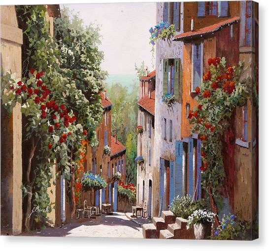 Old Canvas Print - vecchia Cagnes by Guido Borelli