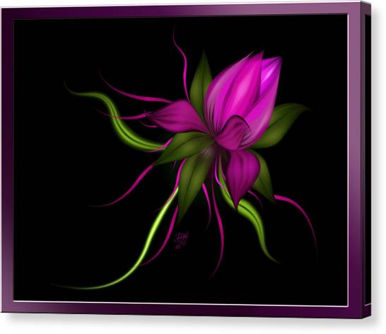 Vector Flower Canvas Print