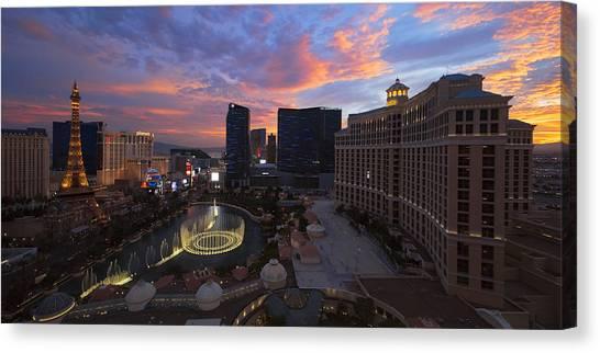 Paris Night Canvas Print - Vegas By Night by Chad Dutson