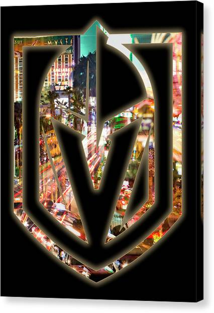 Vegas Golden Knights Canvas Print - Vegas Golden Knights 2 by Ricky Barnard
