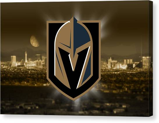 Vegas Golden Knights Canvas Print - Vegas Golden Knights Artwork  by Nicholas Legault