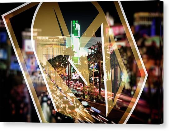 Vegas Golden Knights Canvas Print - Vegas Golden Knights by Ricky Barnard