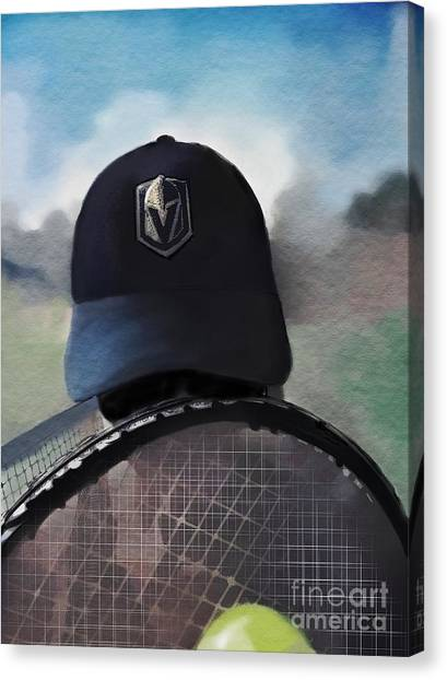 Vegas Golden Knights Canvas Print - Vegas Knights Tennis by Diana Rajala