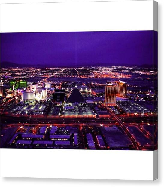 Scotty Canvas Print - Vegas Skyline @ Night , The View From by Scotty Brown