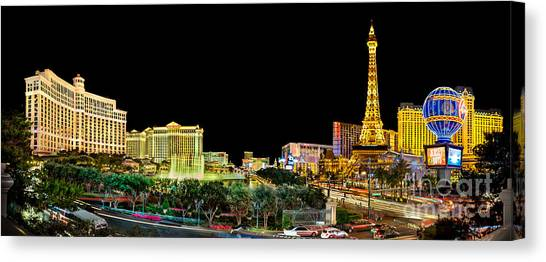 Traffic Canvas Print - Vegas Splendor  by Az Jackson