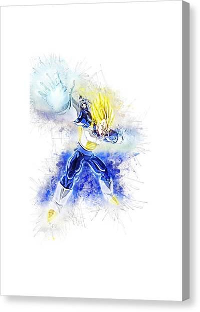 Final Fantasy Canvas Print - Vegeta by Kamran Rezakhani