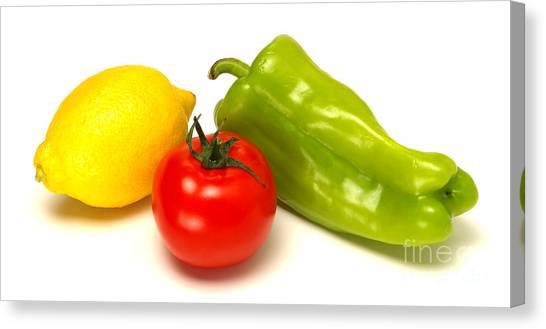 Condiments Canvas Print - Vegetable Trinity by Olivier Le Queinec