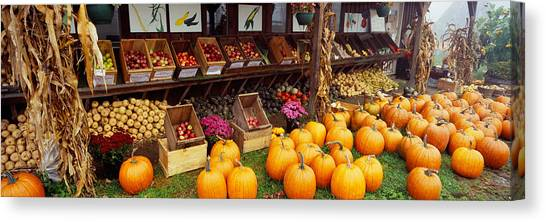 Vegetable Stands Canvas Print - Vegetables In A Market, Grand Rapids by Panoramic Images
