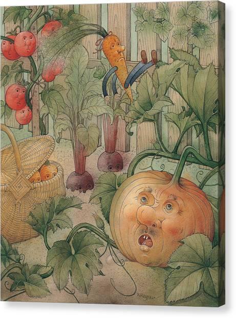 Vegetable Garden Canvas Print - Vegetables by Kestutis Kasparavicius
