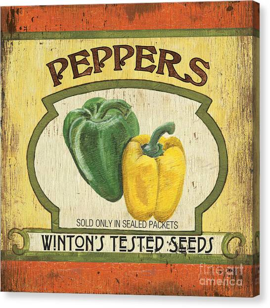 Vegetarian Canvas Print - Veggie Seed Pack 2 by Debbie DeWitt