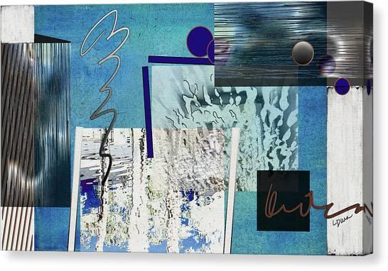 Frank Stella Canvas Print - Veiled Illusion by Linda Dunn