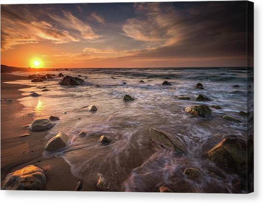 Veiled In Golden Light Canvas Print