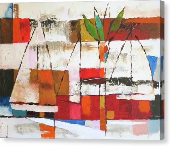 Colorplay Canvas Print - Veleros by Lutz Baar
