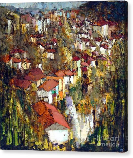 Veliko Tarnovo - Panorama Canvas Print by Michael Stoyanov