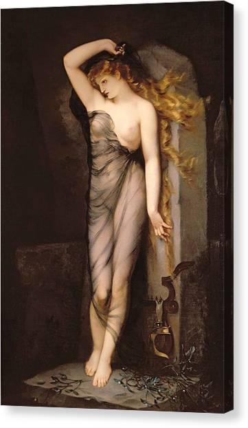 Mistletoe Canvas Print - Velleda by Charles Voillemot