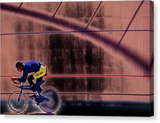 Velo Cyclist Canvas Print