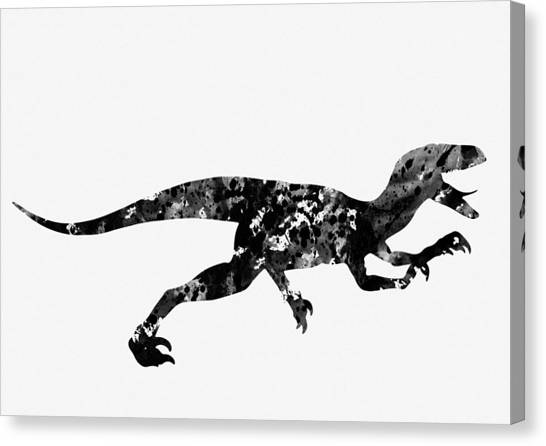 Velociraptor Canvas Print - Velociraptor by Erzebet S