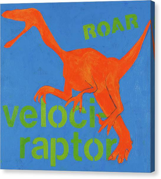 Velociraptor Canvas Print - Velociraptor by Laurie Breen