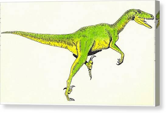 Velociraptor Canvas Print - Velociraptor by Michael Vigliotti