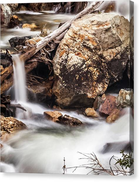Velvet Falls - Rocky Mountain Stream Canvas Print