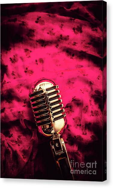 Microphones Canvas Print - Velvet Jazz Show by Jorgo Photography - Wall Art Gallery