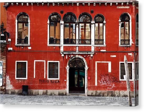 Venetian Architecture Canvas Print by John Rizzuto