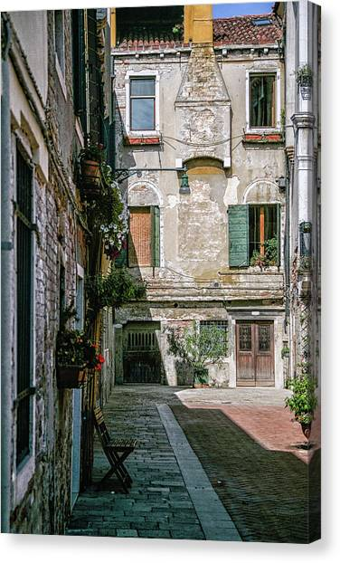 Venetian Back Street Canvas Print