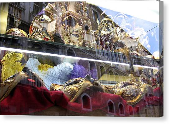 Venetian Carnival Reflections Canvas Print