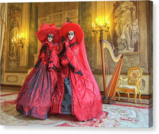 Venetian Ladies In The Palace Canvas Print