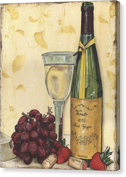Strawberry Canvas Print - Veneto Pinot Grigio by Debbie DeWitt