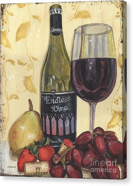 Winery Canvas Print - Veneto Pinot Noir by Debbie DeWitt