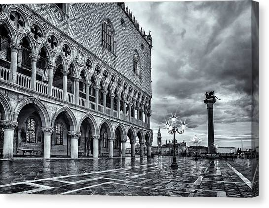 San Marco Canvas Print - Venice After The Rain by Andrew Soundarajan