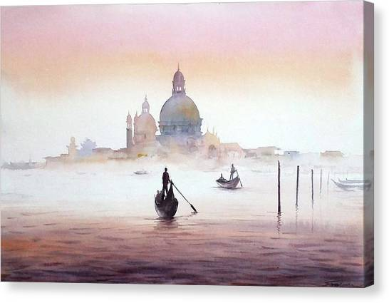 Venice At Early Morning Canvas Print