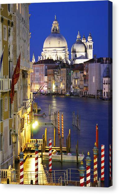 Venice At Night Canvas Print by Dan Breckwoldt