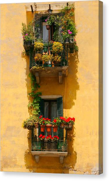 Venice Balcony Canvas Print by Carl Jackson