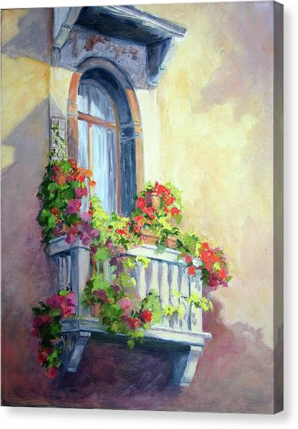Venice Balcony Canvas Print