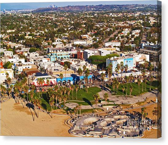 Venice Beach Aerial Canvas Print