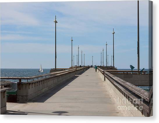 Venice Beach Canvas Print - Venice Beach Pier by Ana V Ramirez