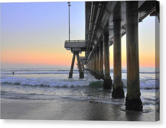Venice Beach Pier Sunset Canvas Print