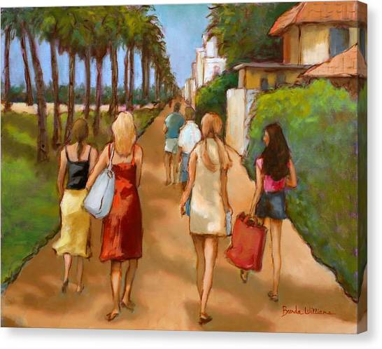 Venice Beach Promenade Canvas Print by Brenda Williams