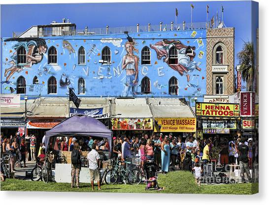 Guitar Picks Canvas Print - Venice Beach V by Chuck Kuhn