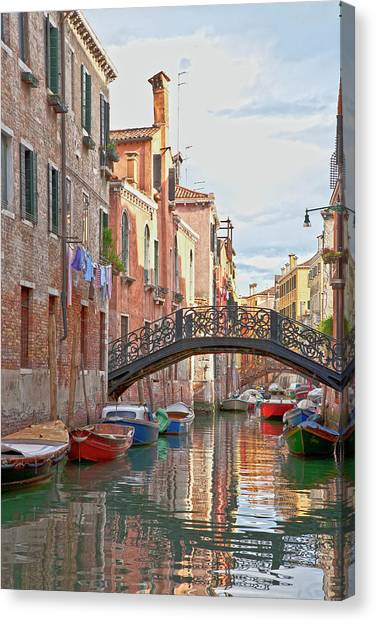 Venice Bridge Crossing 5 Canvas Print