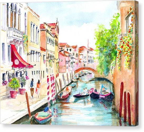 Venice Canal Boscolo Venezia Canvas Print