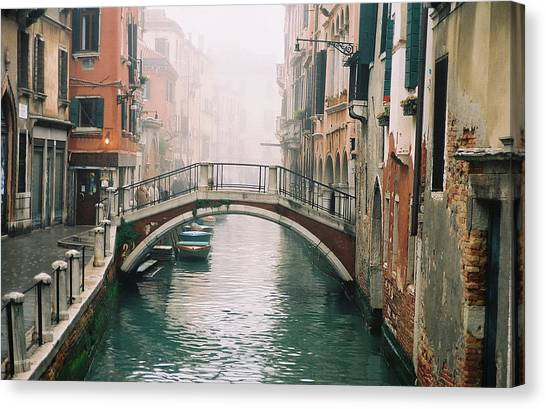 Venice Canal II Canvas Print by Kathy Schumann