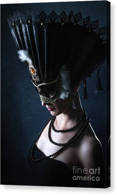 Canvas Print featuring the photograph Venice Carnival Mask by Dimitar Hristov