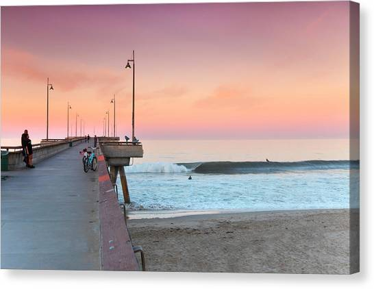 Venice Beach Canvas Print - Venice Dawn by Sean Davey